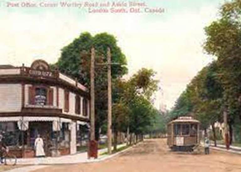 Historic photo of the building which is now Tuckey Home Hardware